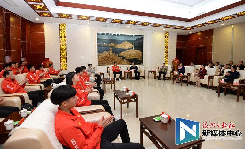 王宁会见省运会福州运动员教练员代表