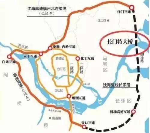 福州超级四环来了!串起连江、琅岐、长乐、闽侯……