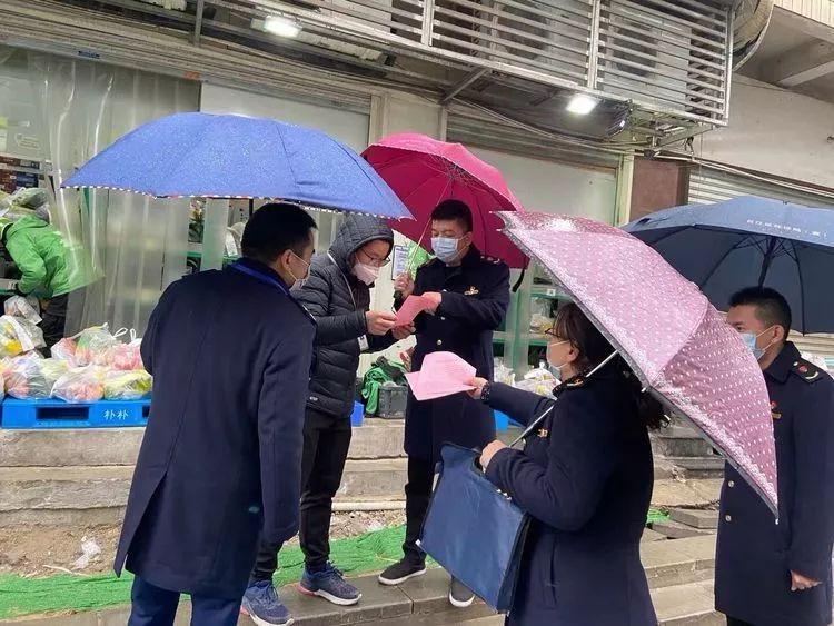 台江区市场监管局对电商平台配送站点进行防控检查