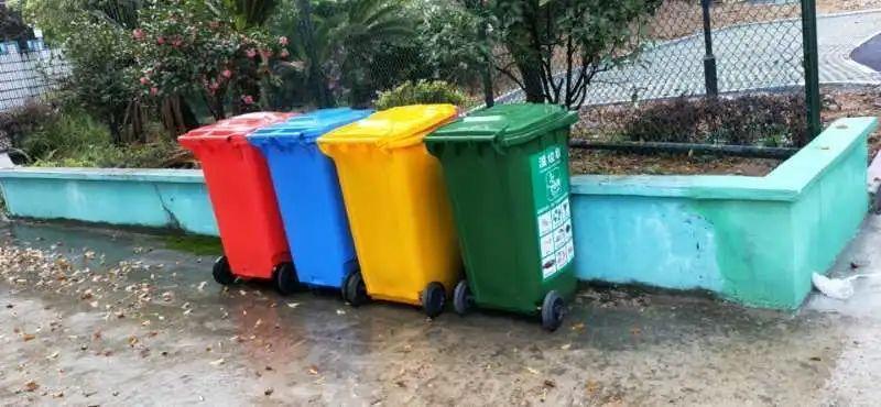 长乐猴屿乡做好垃圾分类 家家户户配备干湿垃圾桶