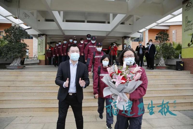 最强家属后援团来迎接!支援湖北首批返闽医护人员结束集中休整!