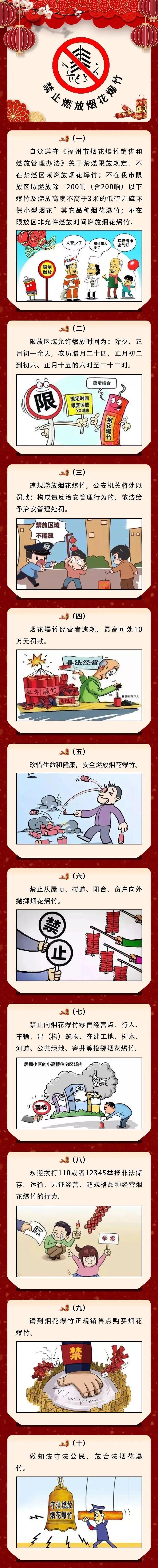 @所有福州人,春节怎么燃放烟花爆竹,这些你该知道!