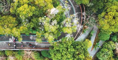 人民日报头版关注福州的环山绿道