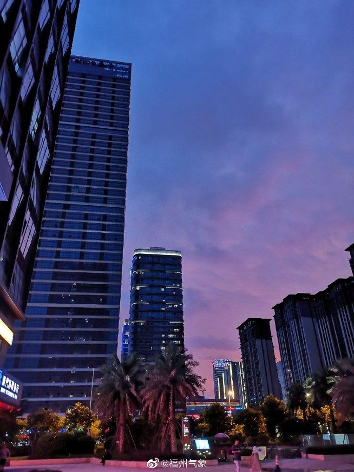 福州绝美晚霞上线 被浪漫击中的傍晚你想跟谁一起看?